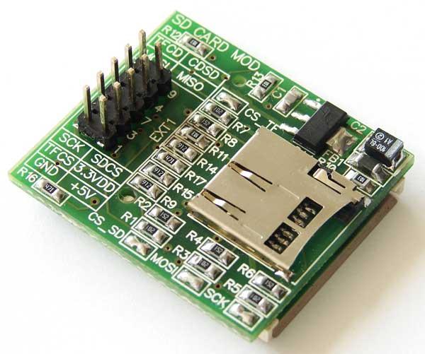 Модуль подключения SD и